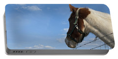 Portable Battery Charger featuring the photograph Profile Of A Horse by Charles Beeler
