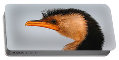 Profile Of A Young Cormorant Portable Battery Charger