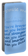 Promise Me - Winnie The Pooh - Blue Portable Battery Charger