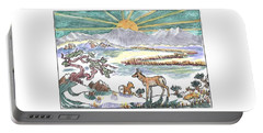 Pronghorn Winter Sunrise Portable Battery Charger