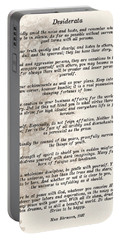 Prose Poem Desiderata By Max Ehrmann  Portable Battery Charger