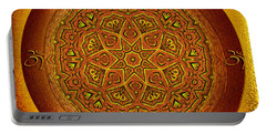 Portable Battery Charger featuring the digital art Prosperity Mandala - Mandala Art  By Giada Rossi by Giada Rossi