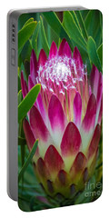 Protea In Pink Portable Battery Charger
