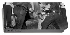 Protester Clubbed In Harlem Portable Battery Charger by Underwood Archives