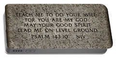 Psalm 143 10 Portable Battery Charger