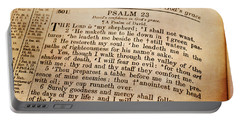 Psalm 23 - The Lord Is My Shepherd Portable Battery Charger