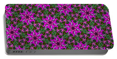 Portable Battery Charger featuring the digital art Psychedelic Pink by Elizabeth McTaggart