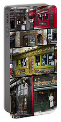 Pubs Of Dublin Portable Battery Charger by David Smith
