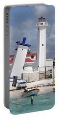 Puerto Morelos Lighthouse Portable Battery Charger by Ellen Henneke