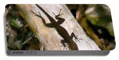 Puerto Rico Lizard Portable Battery Charger by Daniel Sheldon
