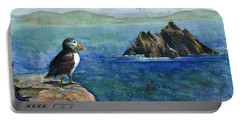 Puffin At Skellig Island Ireland Portable Battery Charger