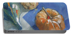 Pumpkin And Gourds Still Life Portable Battery Charger