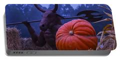Pumpkin And Minotaur Portable Battery Charger