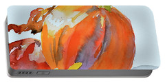 Portable Battery Charger featuring the painting Pumpkin And Pomegranate by Beverley Harper Tinsley