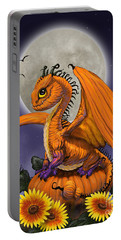 Pumpkin Dragon Portable Battery Charger by Stanley Morrison