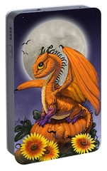 Portable Battery Charger featuring the digital art Pumpkin Dragon by Stanley Morrison