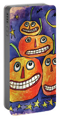 Pumpkin Family Portable Battery Charger by Anne Tavoletti