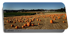 Portable Battery Charger featuring the photograph Pumpkin Field by Michael Gordon