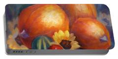 Pumpkins And Flowers Portable Battery Charger