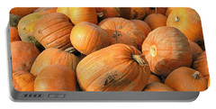 Portable Battery Charger featuring the digital art Pumpkins by Ron Harpham