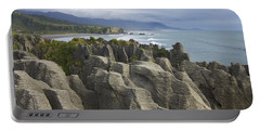 Punakaiki Pancake Rocks Portable Battery Charger by Stuart Litoff