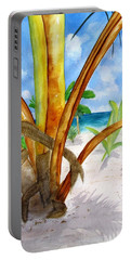 Punta Cana Beach Palm Portable Battery Charger by Carlin Blahnik