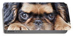Puppy Love Portable Battery Charger by Jeannette Hunt