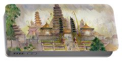 Pura Besakih Bali Portable Battery Charger by Melly Terpening