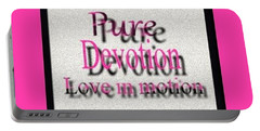 Portable Battery Charger featuring the digital art Pure Devotion by Catherine Lott