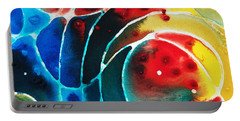 Pure Joy 2 - Abstract Art By Sharon Cummings Portable Battery Charger