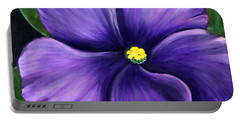 Purple African Violet Portable Battery Charger