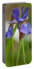 Purple Bearded Iris Oil Portable Battery Charger