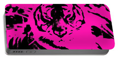 Portable Battery Charger featuring the photograph Magical Purple Bengal Tiger by Belinda Lee