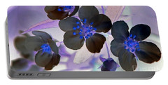Portable Battery Charger featuring the photograph Purple Blue And Gray by Chris Anderson