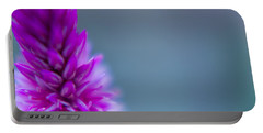 Portable Battery Charger featuring the photograph Purple Blur by Steven Santamour