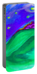 Portable Battery Charger featuring the painting Purple Castle By Jrr by First Star Art