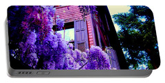 Portable Battery Charger featuring the photograph Purple Cheer by Zafer Gurel