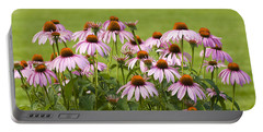 Purple Cone Flowers Portable Battery Charger