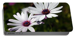 Purple Daisies Portable Battery Charger