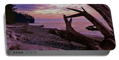 Portable Battery Charger featuring the photograph Purple Dreams In Bc by Barbara St Jean