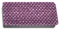 Purple Fabric Portable Battery Charger