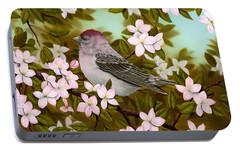 Purple Finch Portable Battery Charger by Rick Bainbridge