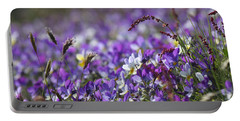 Purple Flower Bed Portable Battery Charger