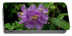 Portable Battery Charger featuring the photograph Purple Flower by Sergey Lukashin