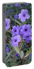 Portable Battery Charger featuring the photograph Purple Flowers by Laurel Powell