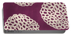 Purple Garden Bloom Portable Battery Charger