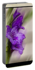 Purple Gladiolus Bloom Portable Battery Charger