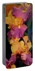 Purple Gold Irises  Portable Battery Charger