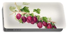 Purple Gooseberry Portable Battery Charger