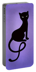 Purple Gracious Evil Black Cat Portable Battery Charger